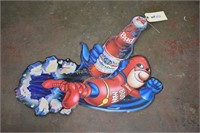 """Budweiser tin sign approximately 22""""x27"""""""