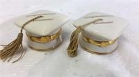 Pair of Lenox Treasures Graduation Wishes