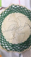 Assorted Doilies, Hot Pads, Kitchen Towels & More