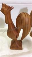 Assorted Carved Wood Figures/Decor