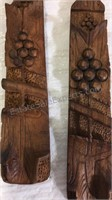 Assorted Carved Wood Figures/Decor Inc Mahogany