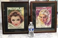 34 - FRAMED 2 PHOTOPLAY WALL ART - SEE PICS