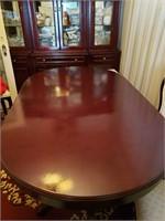 ELEGANT OVAL DINING TABLE - DARK CHERRY WOOD
