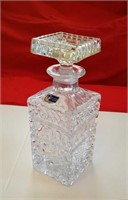 "LEAD CRYSTAL DECANTER 8"" h"