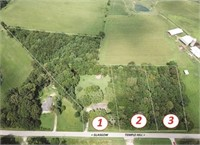 9+/- AC. - NICE BRICK HOME - 3 TRACTS - PERSONAL PROPERTY &