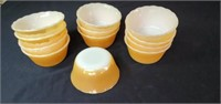 Group of 12 Fire king peach luster dessert dishes