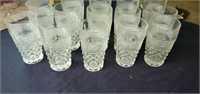 Set of Wexford pattern glass drinking glasses