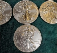 LOT OF (10) 2011 SILVER AMERICAN EAGLE COINS