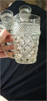 Group of 7 Wexford glass mugs