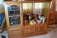 Nice entertainment center approx size is 50