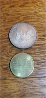 1997 walking Liberty silver dollar and Kennedy