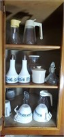 Contents of cabinet 3 shelves