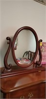Lovely free standing vanity mirror approx size is