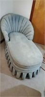 Baby blue Lounger chair
