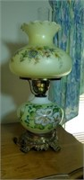 Vintage glass lamp approx 20 inches tall