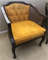 36 - PAIR OF VINTAGE YELLOW MATCHING CHAIRS