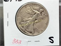 LARGE COIN & SILVER AUCTION.   OVER 600 LOTS