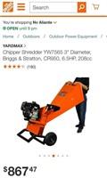 C - NEW YARDMAX CHIPPER SHREDDER YW7565