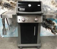 335 - WEBER SPIRIT BBQ W/ TOOLS & PROPANE TANK