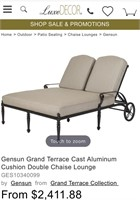21 - BEAUTIFUL DUEL PATIO LOUNGE CHAIR W/WHEELS