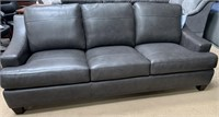 NEW BEAUTIFUL GREY LEATHER ABBYSON LIVING COUCH