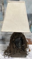 714 - VERY UNIQUE FACE TABLE LAMP - SEE PICS