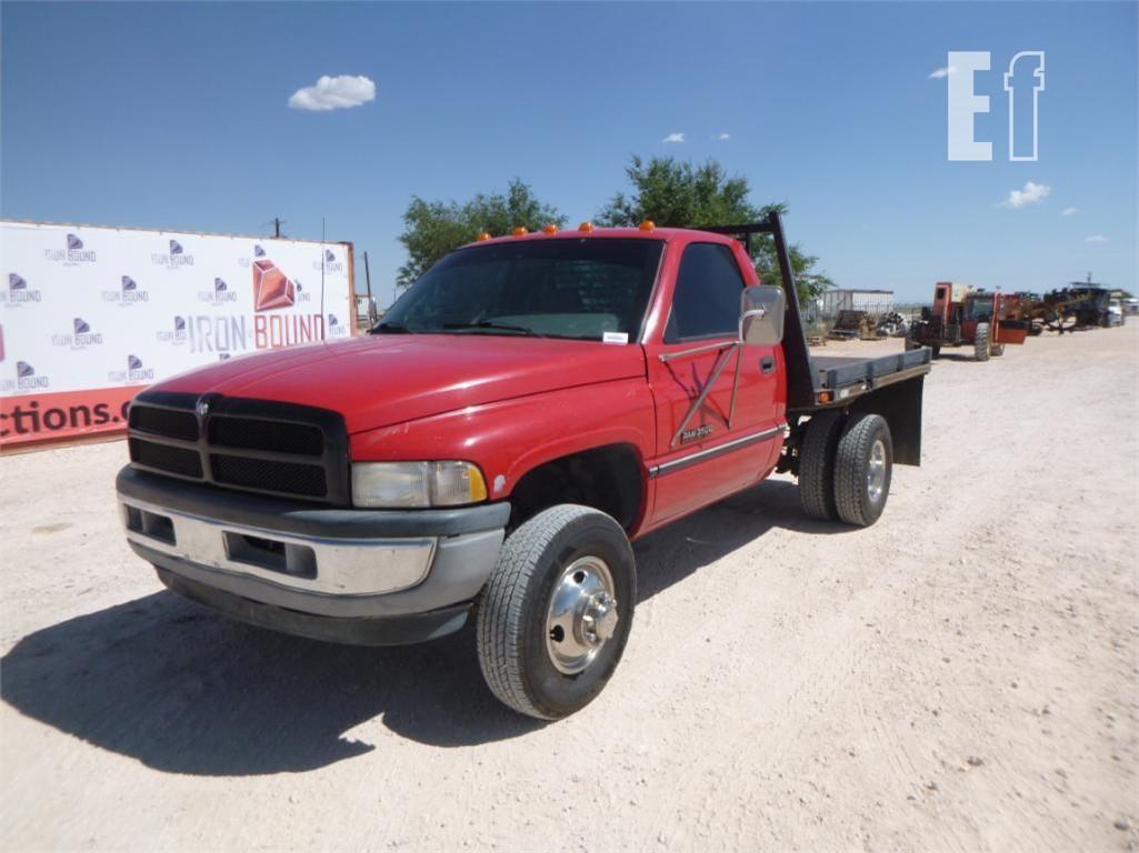 equipmentfacts com 1996 dodge ram 3500 flat bed pickup online auctions 1996 dodge ram 3500 flat bed pickup