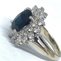 14KT WHITE GOLD 2.32CTS SAPPHIRE AND 1.26CTS DIA.
