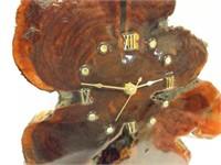 """Tree Slice Clock, Battery, 16"""" x 11"""""""