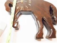 "Wood Horse Clock, 16"" x 13"""