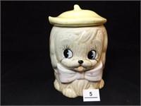 """Puppy Cookie Jar, Japan, 7"""" tall x 5"""""""