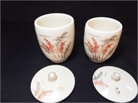 Japanese Covered Teacups, His & Hers