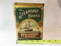Steamship Brand Molasses Candy Tin