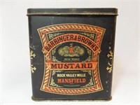 Barringer & Brown's Mustard Tin