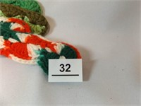 Crochet / Knitted Vests (3), Hangers (4)