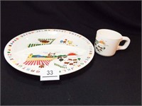 1985 Interpur Plate & Cup
