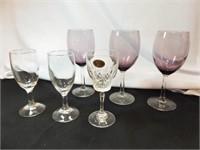 Purple Wineglasses (3), Glasses (3)