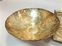 Hammered Metal Plate, Bowl, S & P