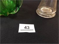 Vases - Green/Pink, Clear Glass (2)