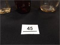 Glass Bottles- Old Taylor, Gemco, (5)