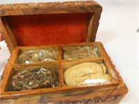 Tudor Wooden Spice Chest w/ Spices