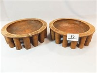 1943 WWI Samoa Hand carved Bowls (2)