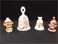Bells, Christmas - Noritake, Homco (4)