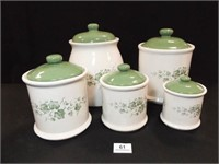 Ivy Canister Set, 5 Piece