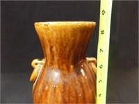 "Japanese Banko Ware Carved Vase, 8½"""
