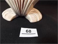 "Western Coast Pottery Shell Vase, 7½"""