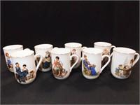 Norman Rockwell Museum Mugs, (8)