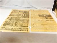 Enid News 12/31/63, 6/6/64, Laminated