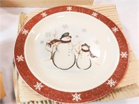 Holiday Snowman Dishes -16 pieces