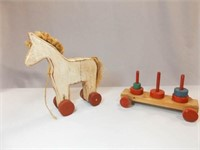 Wooden Toys - Horse, Stacker